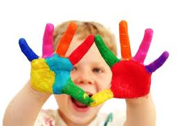 cute picture of hands with paint